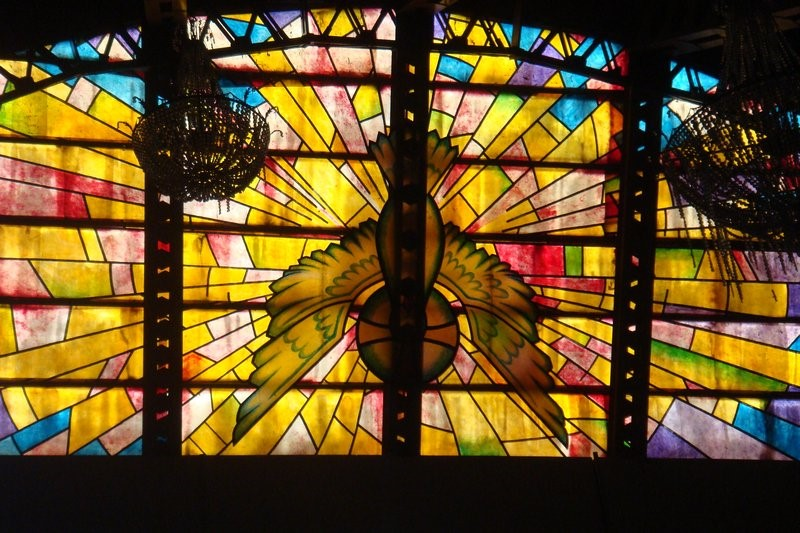 glass painting of the church window