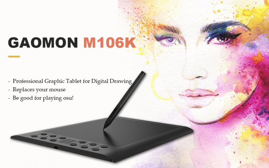 GAOMON Offering Professional Graphic Tablet M106K with a Special Contest Giveaway