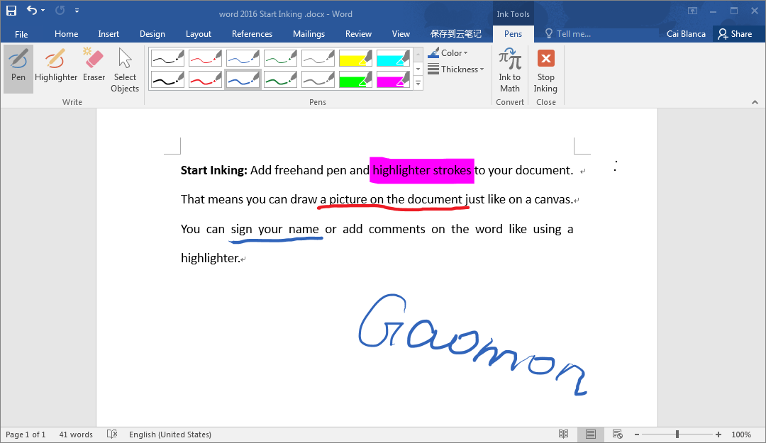 How to Use Pen Tablet to Sign, Annotate, or Comment on Microsoft Office Files Including Word, Excel, PowerPoint, and OneNote