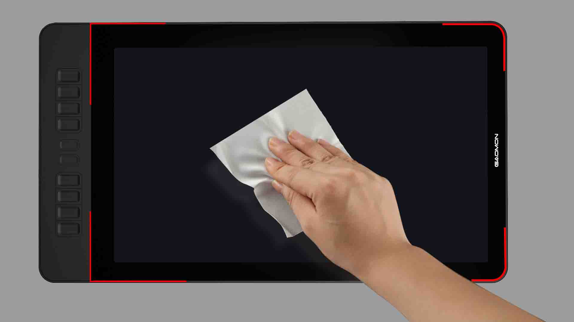 Clean the screen with a lint-free cloth (2)