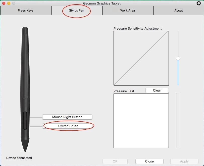 No Pen Pressure in Krita in Mac OS | GAOMON Q&A