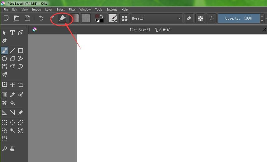 use pen pressure appears in the tool bar on the top