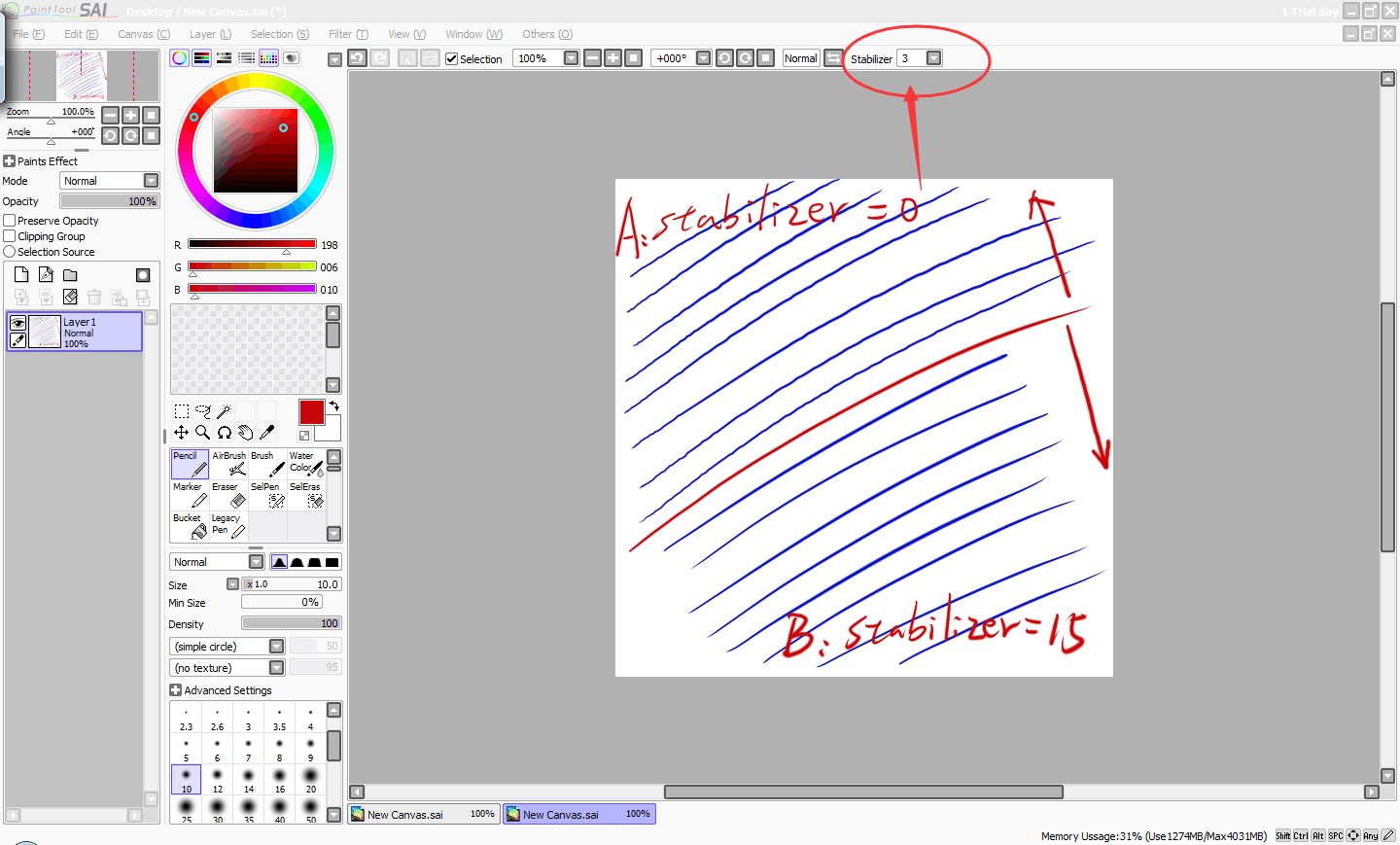 How to Do When Lines Tremble in Sai?