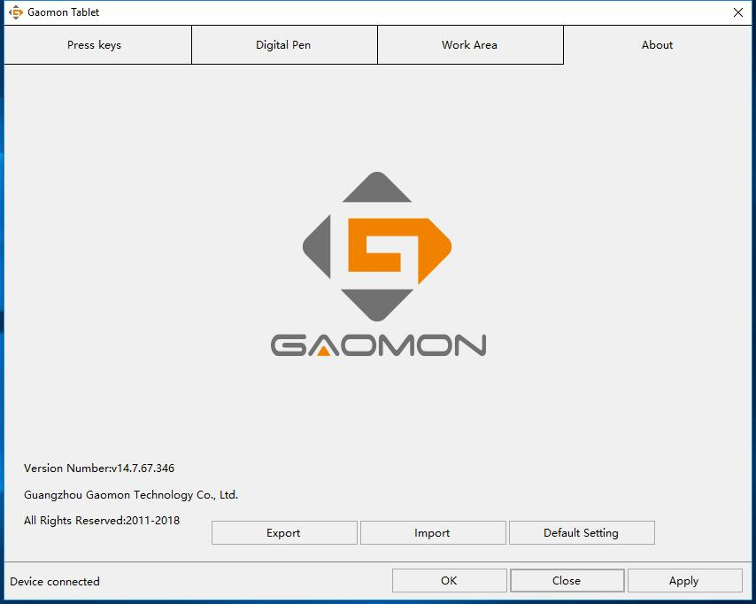 after running as administrator--GAOMON graphics tablet driver