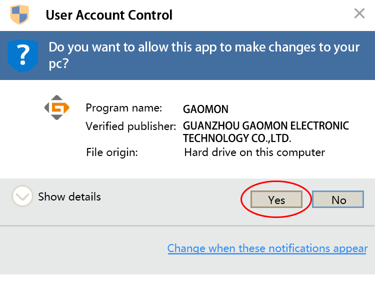 change user account control