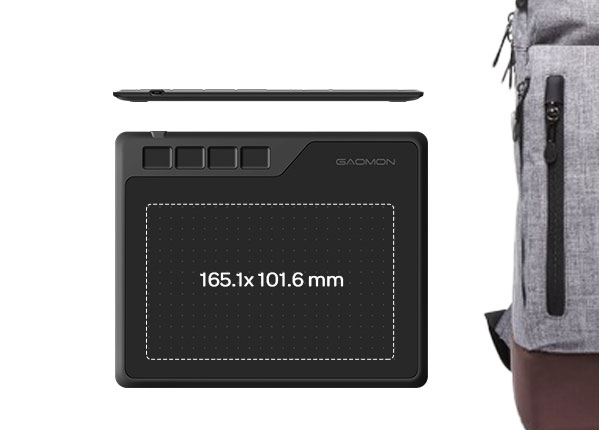 GAOMON S620 graphics tablet--compact body with large enough drawing active area