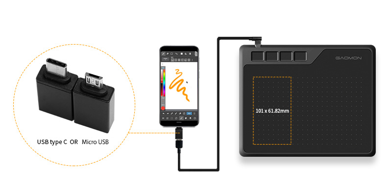 connect S620 to a phone by OTG adapter (2)