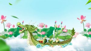 Dragon Boat of Chinese Dragon boat festival