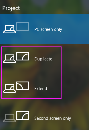 windows display modes