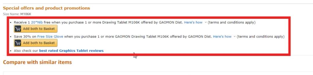 gaomon promotion gift on European amazon (3)