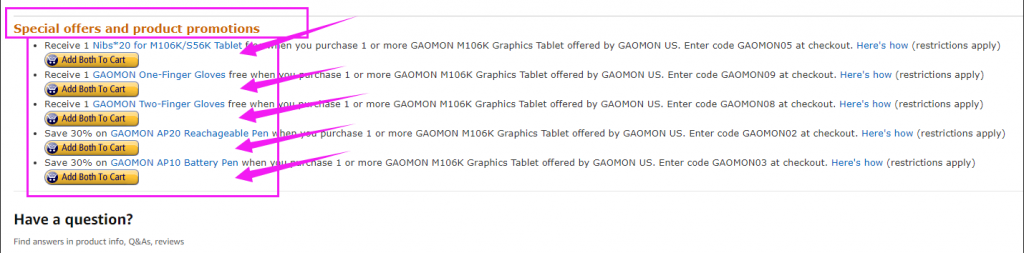 gaomon promotion gift on US CA amazon (3)