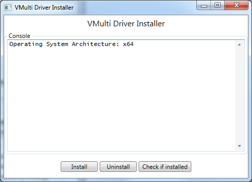 Install the VMulti driver from the GUI.