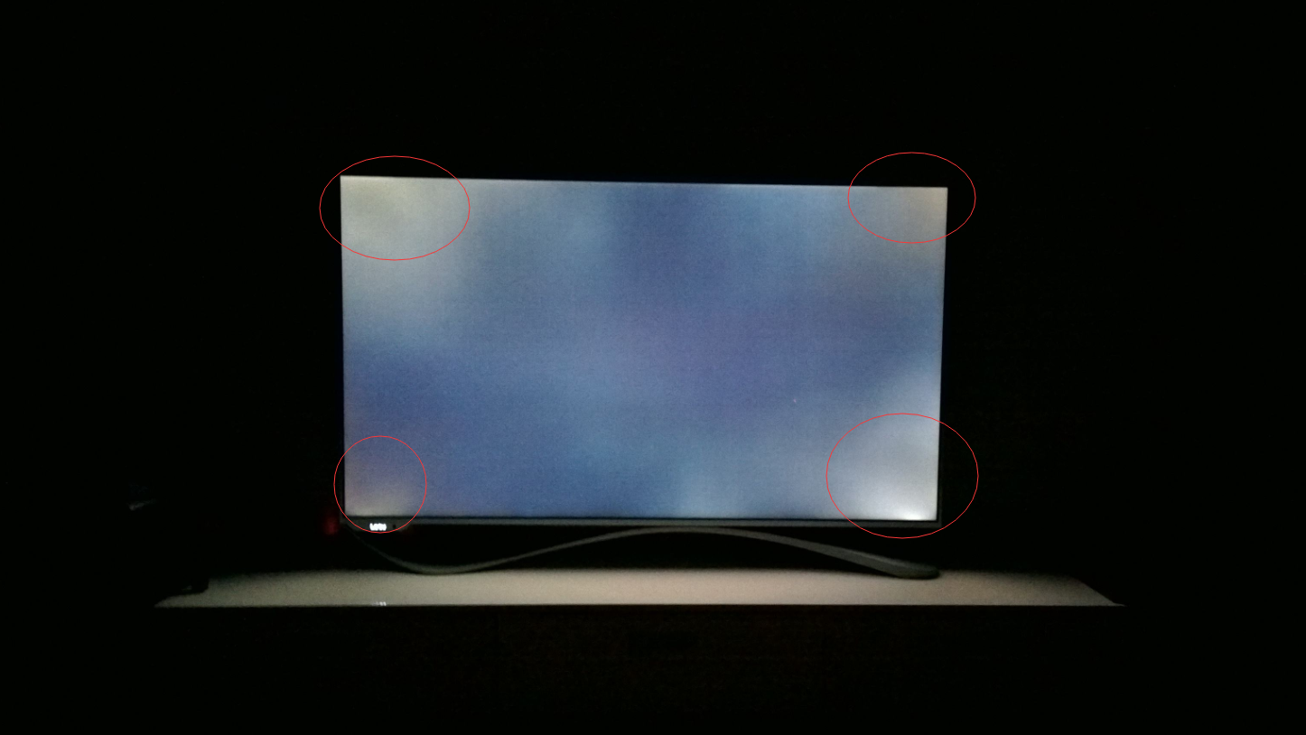 Light-leak in a non-laminated screen