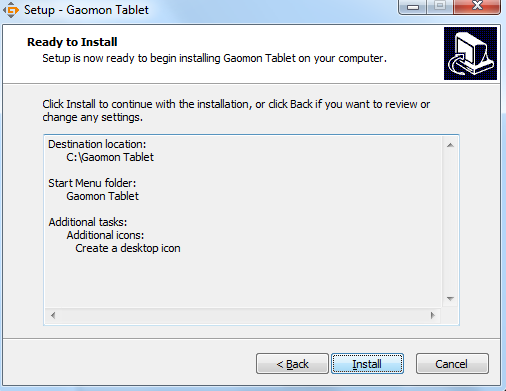 keep clicking next step to install GAOMON driver
