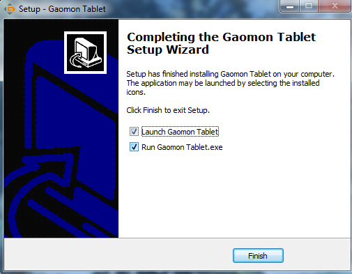 GAOMON official driver installation for your PC